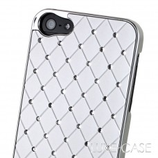 Luxe-Case Λευκή με Στρασάκια για iPhone4