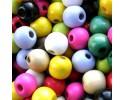 Ξύλινες Χάντρες Διάφορα Χρώματα 12mm 10 τμχ.