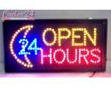 ΦΩΤΕΙΝH ΠΙΝΑΚΙΔA ΕΠΙΓΡΑΦΗ LED OPEN 24 HOURS για Καταστήματα