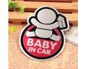 Baby in Car Αυτοκόλλητο Αυτοκινήτου Αλουμινίου Pink